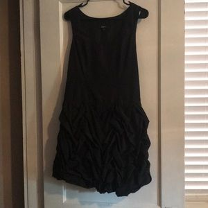 Little black dress with scrunched skirt